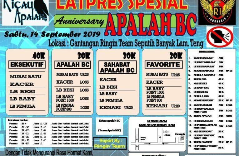 Latpres Anniversary APALAH BC