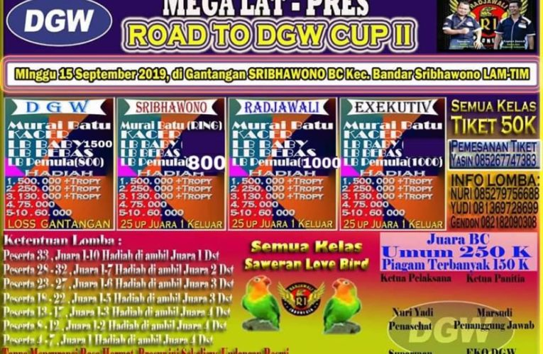 Mega Latpres Road To DGW CUP 2 Minggu, 15 September 2019