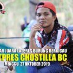 Daftar Juara Latpres CHOSTILLA BC - Minggu, 27 Oktober 2019