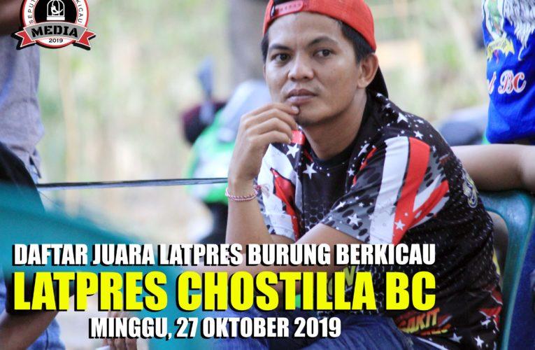 Daftar Juara Latpres CHOSTILLA BC – Minggu, 27 Oktober 2019