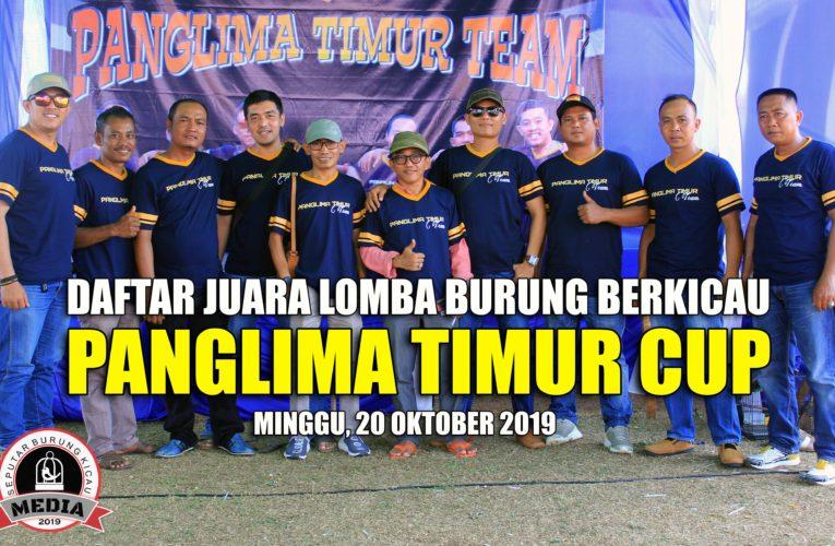 Daftar Juara PANGLIMA TIMUR CUP – Minggu, 20 Oktober 2019