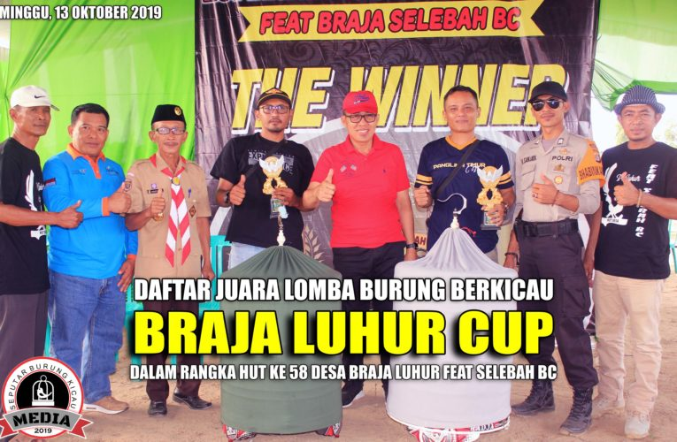 Daftar Juara BRAJA LUHUR CUP Feat SELEBAH BC Minggu, 13 Oktober 2019