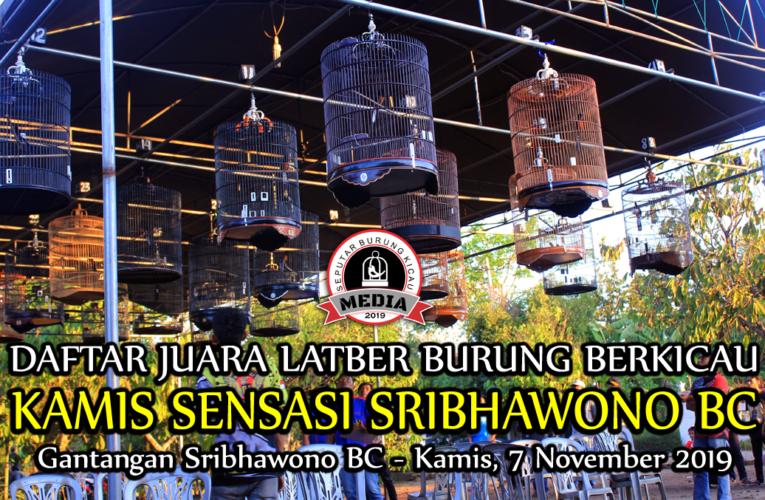 Daftar Juara Latber SRIBHAWONO BC – Kamis, 07 November 2019