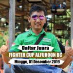Daftar Juara FIGHTER CUP ALFURQON BC - Minggu, 01 Desember 2019
