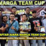 Daftar Juara MARGA TEAM CUP 2 - Minggu, 8 Desember 2019